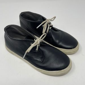 TUCKER + TATE Boys Lace Up Shoes Youth Size 4Y  Black Leather
